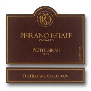 Peirano Estate Heritage Collection petite sirah review